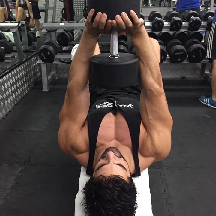 Ricardo Lima PT in Abu Dhabi - Dumbell Exercises 3