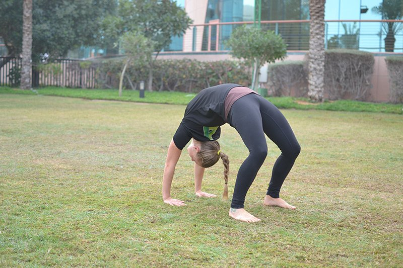 Abu Dhabi Female Personal Trainer Leila Knight - yoga personal training pose 2