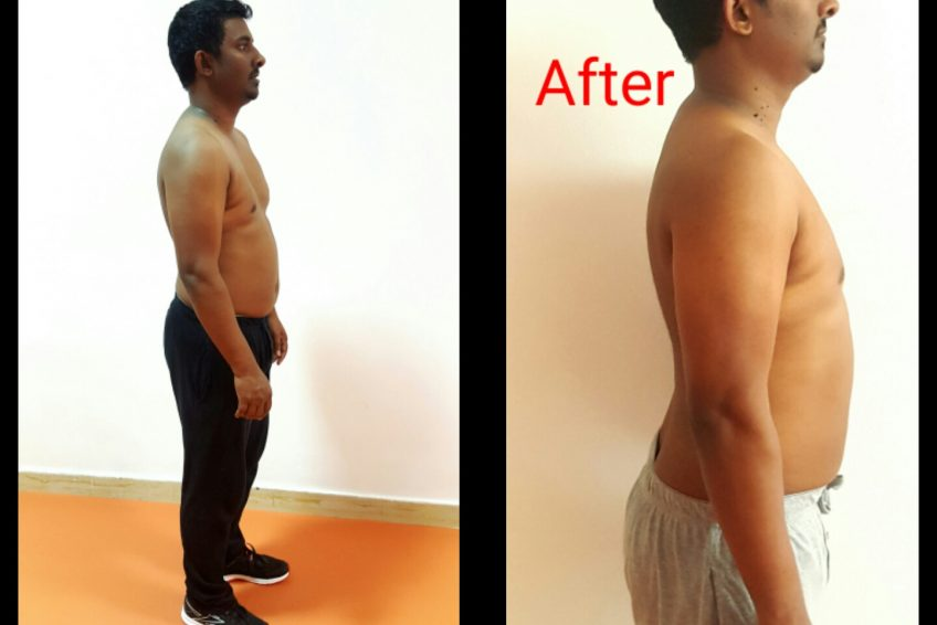 Personal Trainer In Sharjah Shihab - Client Weight Loss Images