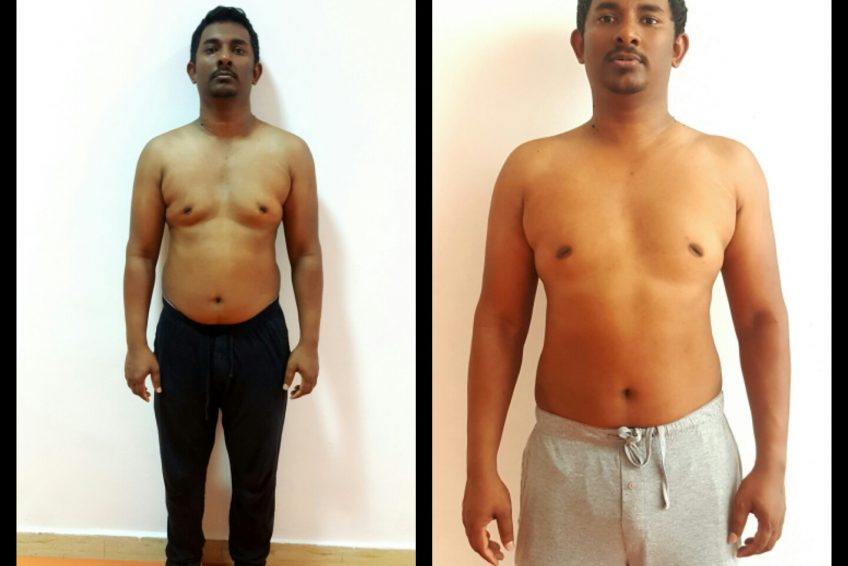 Personal Trainer In Sharjah Shihab - Client Weight Loss Images 1