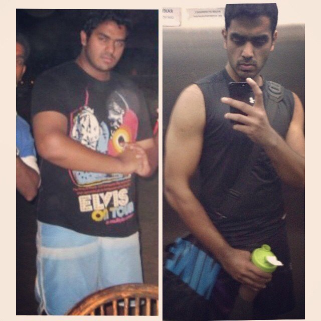 Before and after shots - personal training in Sharjah with Shihab