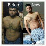 Before and after client images - personal training in Sharjah with Shihab