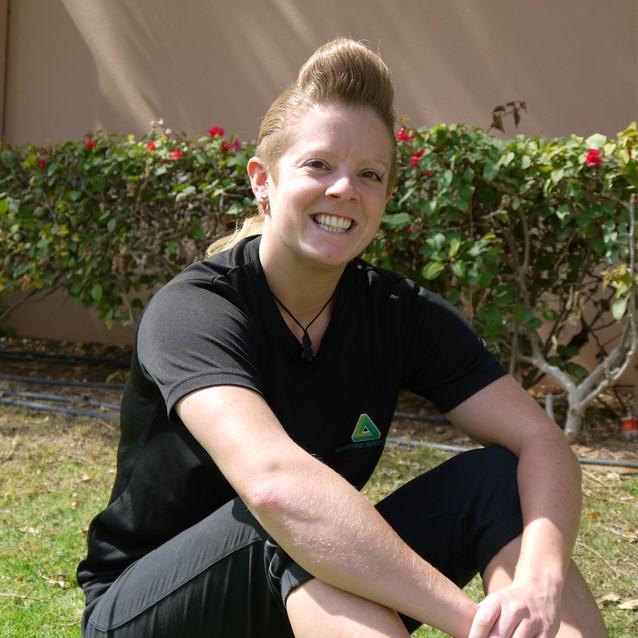 female, mobile personal trainer in Dubai - bernie bray