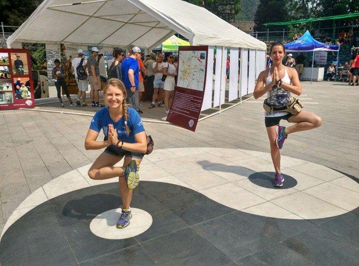 image 1 yoga and the great wall of china marathon - Abu Dhabi Yoga PT leila Knight
