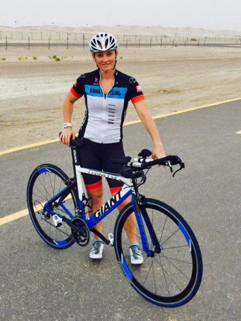 AD Personal Trainer Lynsey Usher Advise Doe Cycling In The UAE