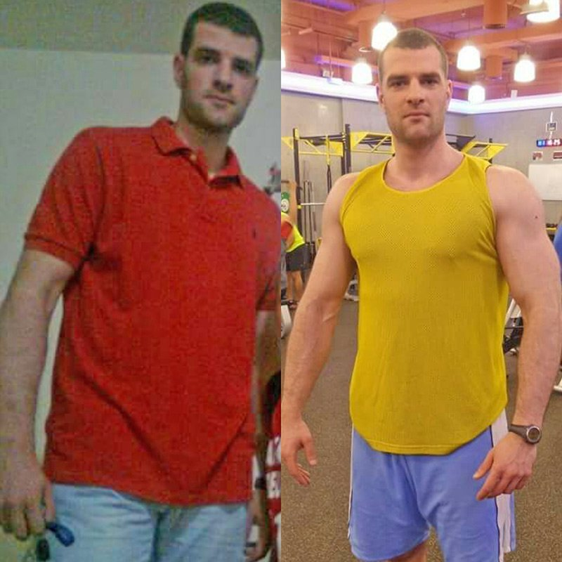 Personal Trainer In Dubai Bojan - Client before and after result images