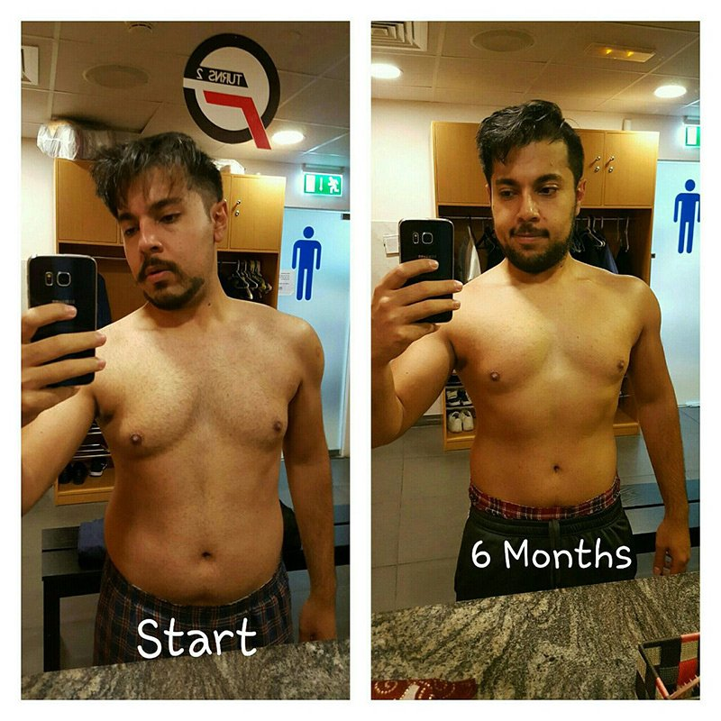 Personal Trainer In Dubai Bojan - Client before and after result images 2