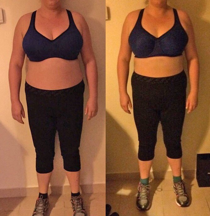 Body tone-up personal trainer in Dubai Paul Magnus - client before after images 2