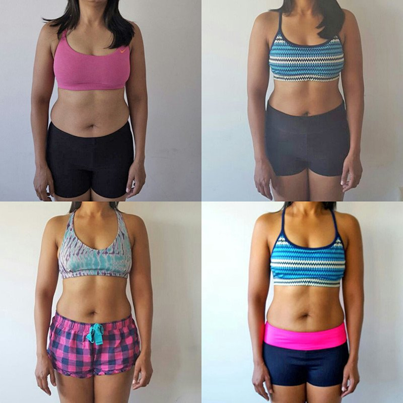 Weight loss personal trainer in Dubai Paul Magnus - client before after images 1