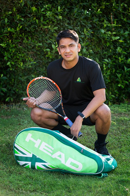 Personal tennis lessons and private coaching in Dubai with Marlon