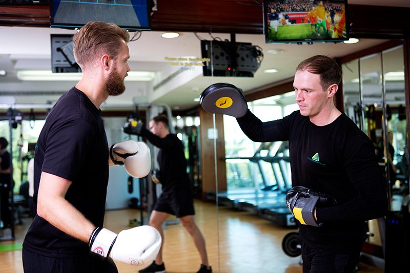 Boxing and Sparring exercises in Abu Dhabi - PT chris and ben