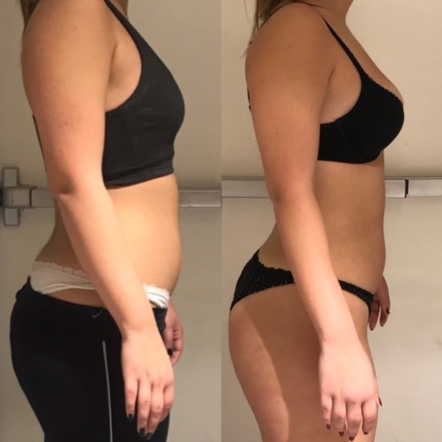 dubai personal trainer karina - client before and after image 2