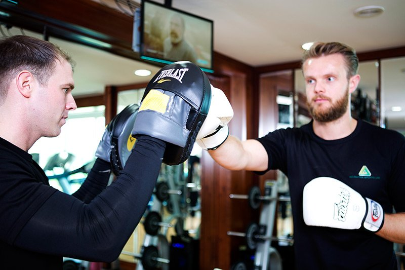 personal training for boxing in Abu Dhabi with Chris - professional Boxing trainer