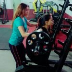 ladies personal trainer in Sharjah - yasmin - training with clients 1