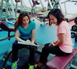 ladies personal trainer in Sharjah - yasmin - training with clients 2