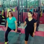ladies personal trainer in Sharjah - yasmin - training with clients 3