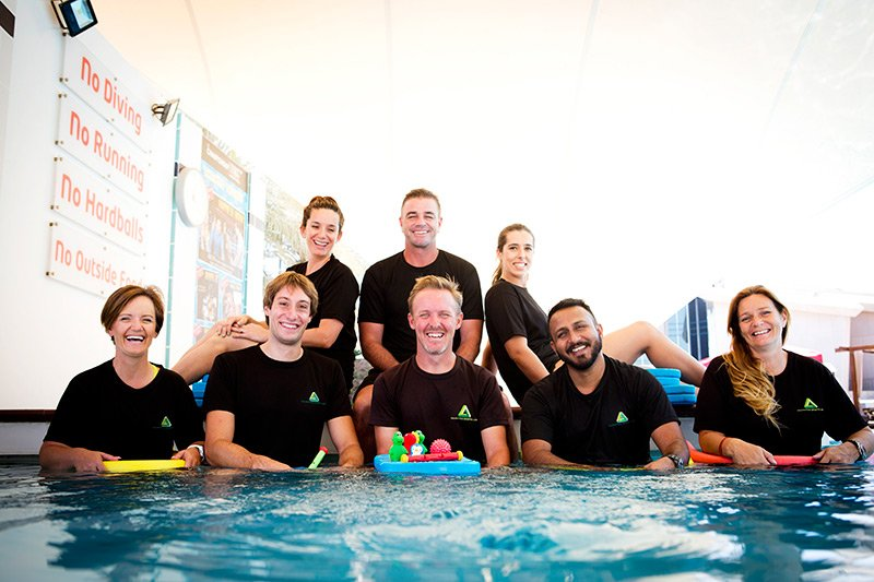 Private and groups swimming personal trainers for adutls and children in Abu Dhabi and Dubai - UAE