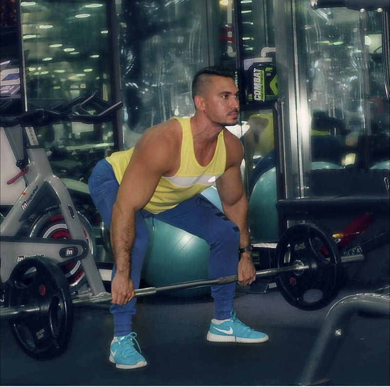 Abu Dhabi Personal Trainer Andrey - Barbell Weight Training
