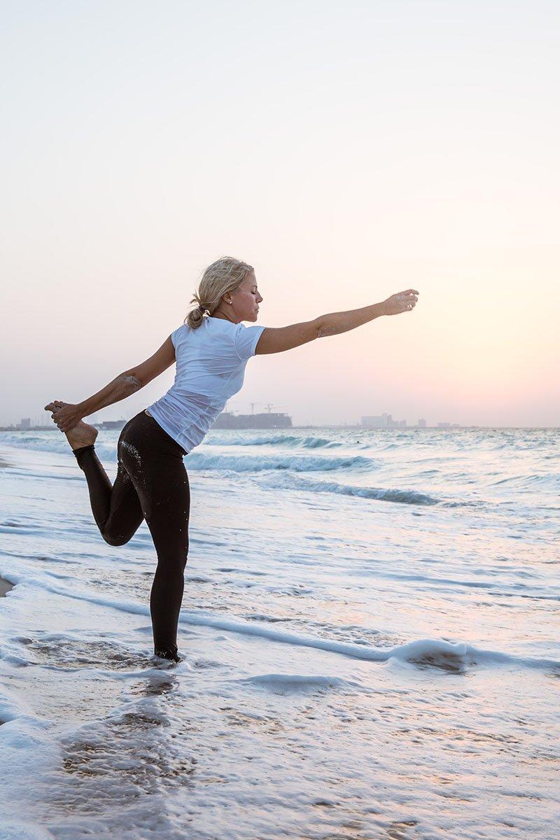 Female Yoga Teacher in Abu Dhabi - Gisella - Yoga On The Beach 1