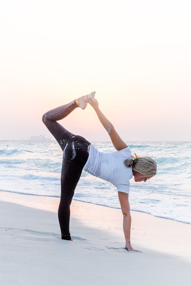 Female Yoga Teacher in Abu Dhabi - Gisella - Yoga On The Beach 5