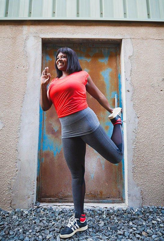 Luciana - female yoga personal trainer in Abu Dhabi UAE - Yoga pose 1
