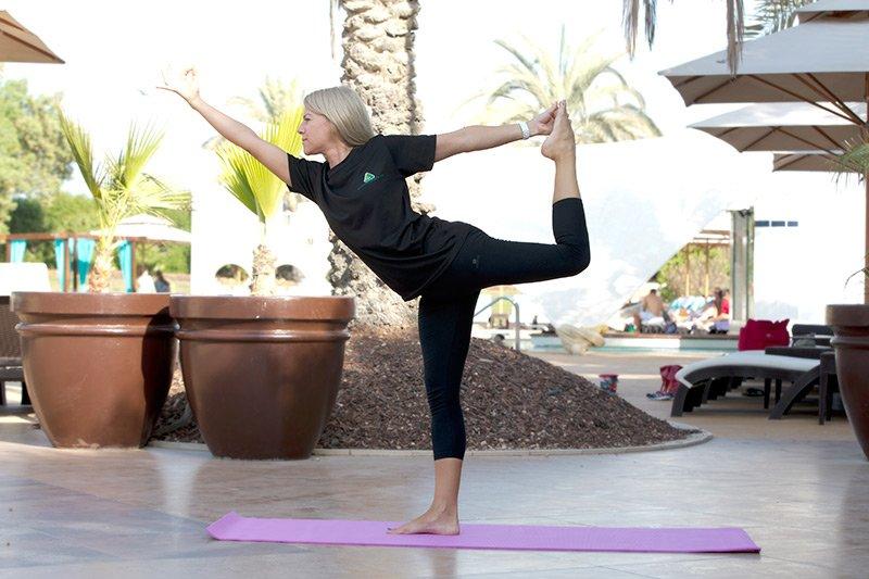 Hatha yoga trainer and coach in Abu Dhabi, united arab emirates- Gisella