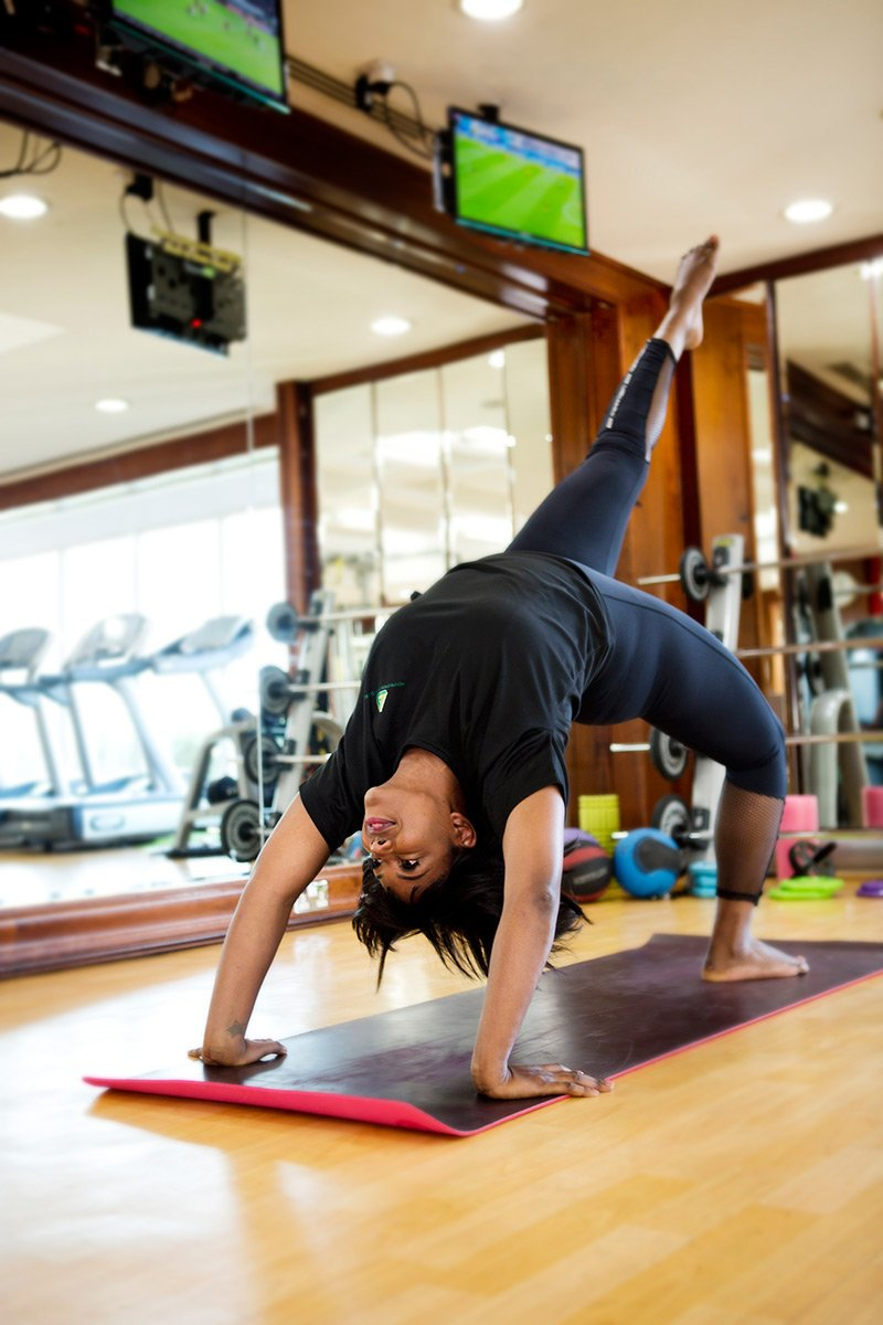 Home Yoga Coach In Abu Dhabi - Luciana - Yoga Pose 2
