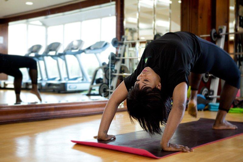 Home Yoga Coach In Abu Dhabi - Luciana - Yoga Pose 1