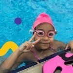 swimming lessons in Dubai for children with Nader