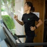 Abu Dhabi female trainer and fitness coach Jen - running exercises