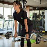 Abu Dhabi female trainer and fitness coach Jen - weight training exercises