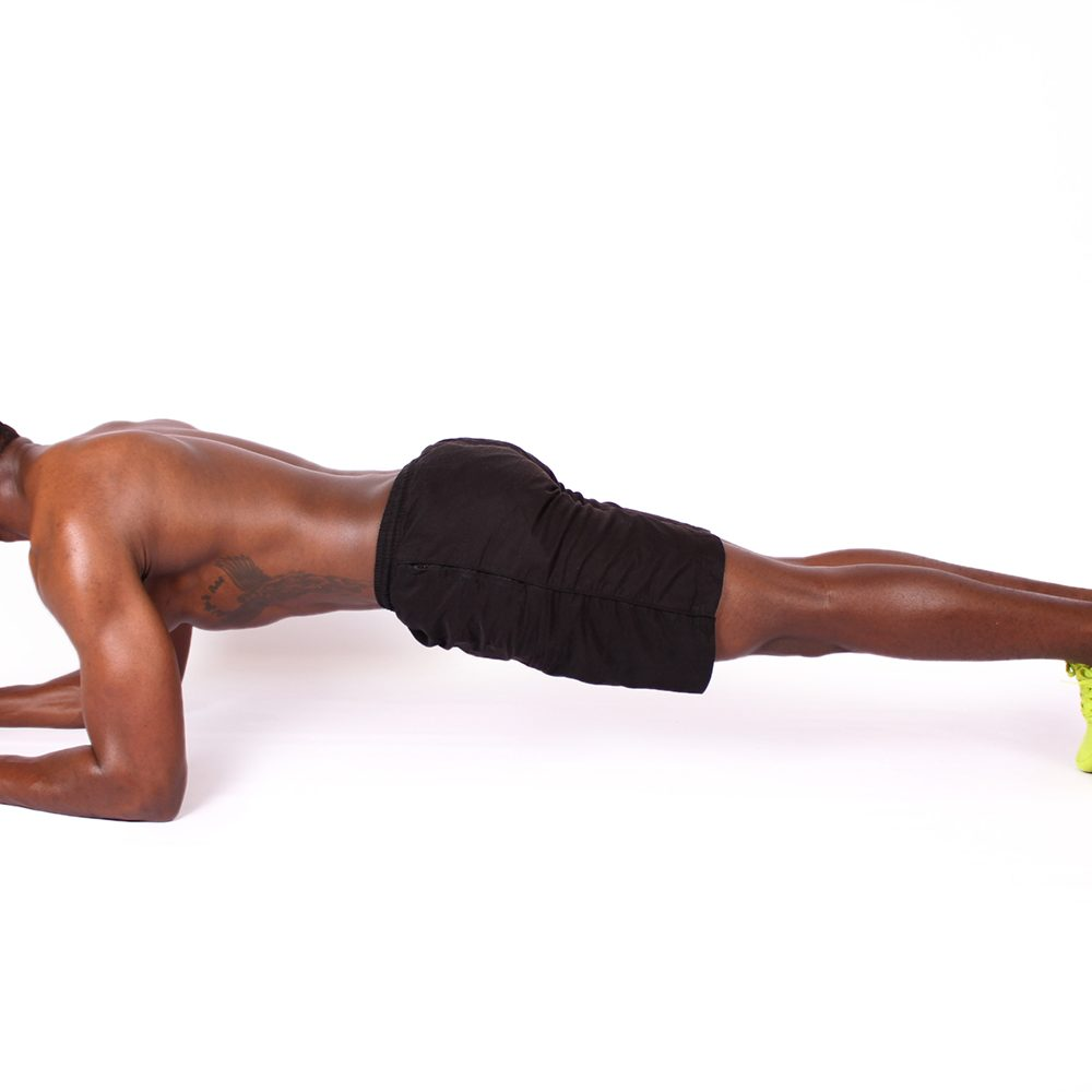Doing the plank for core fitness in the UAE