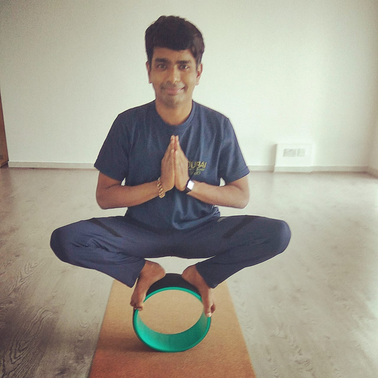 Yoga for stress relief in Dubai with Rohit
