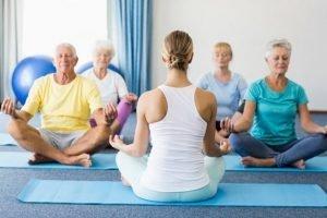 Yoga exercises for seniors in the UAE