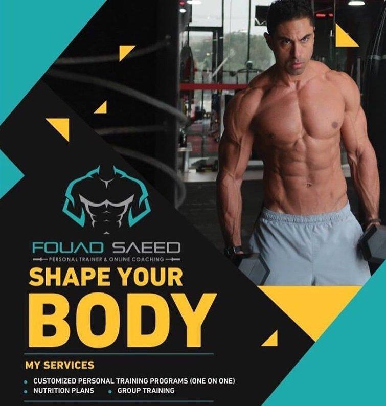 Dubai bodybuilding coach and personal trainer - fouad saeed leaflet