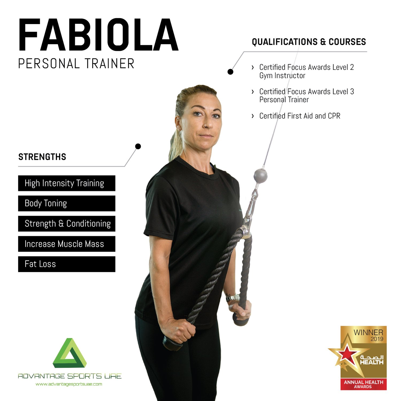 Female Fitness Coach In Abu Dhabi Fabiola - Core Training Skills