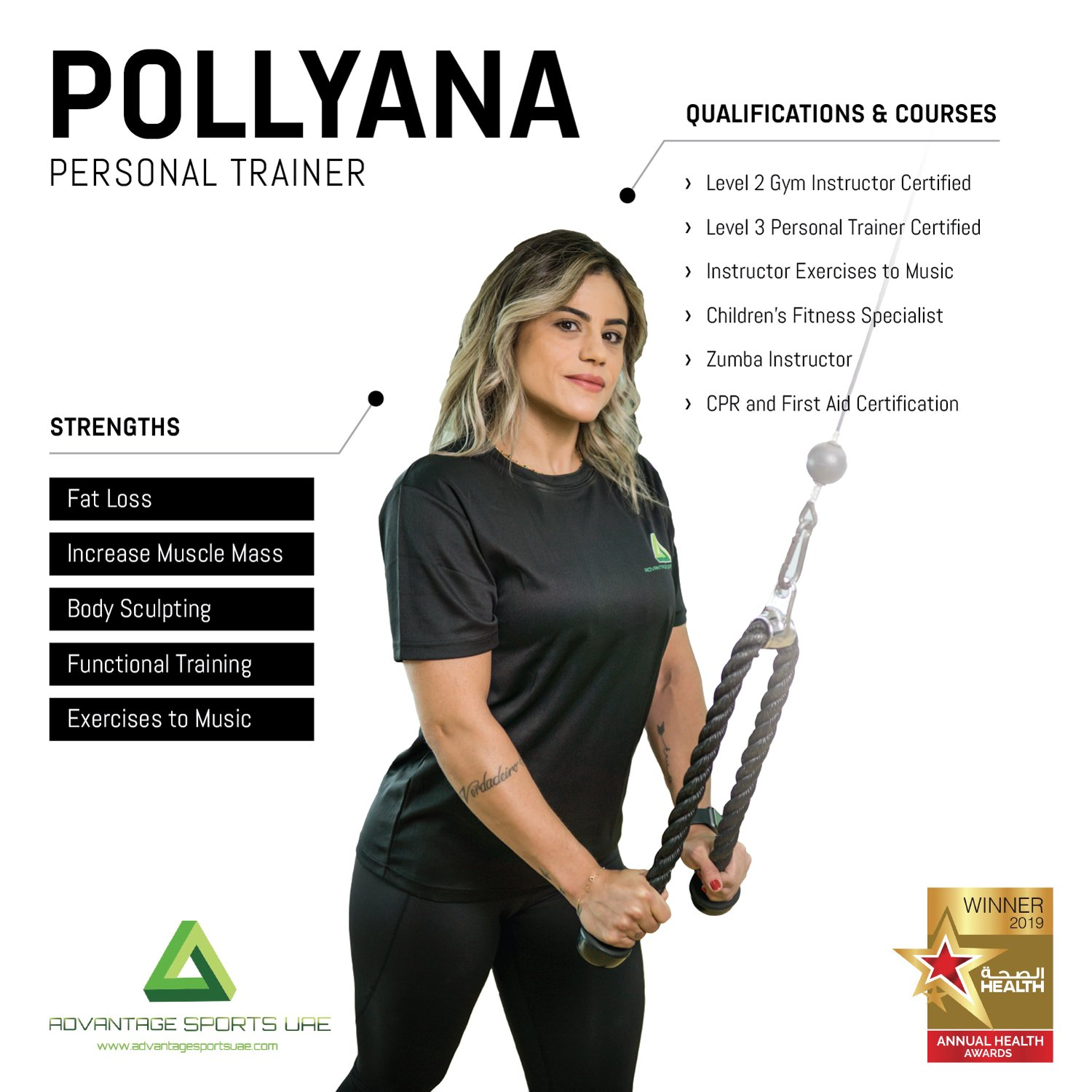 Female Fitness Coach In Abu Dhabi Pollyana - Core Training Skills