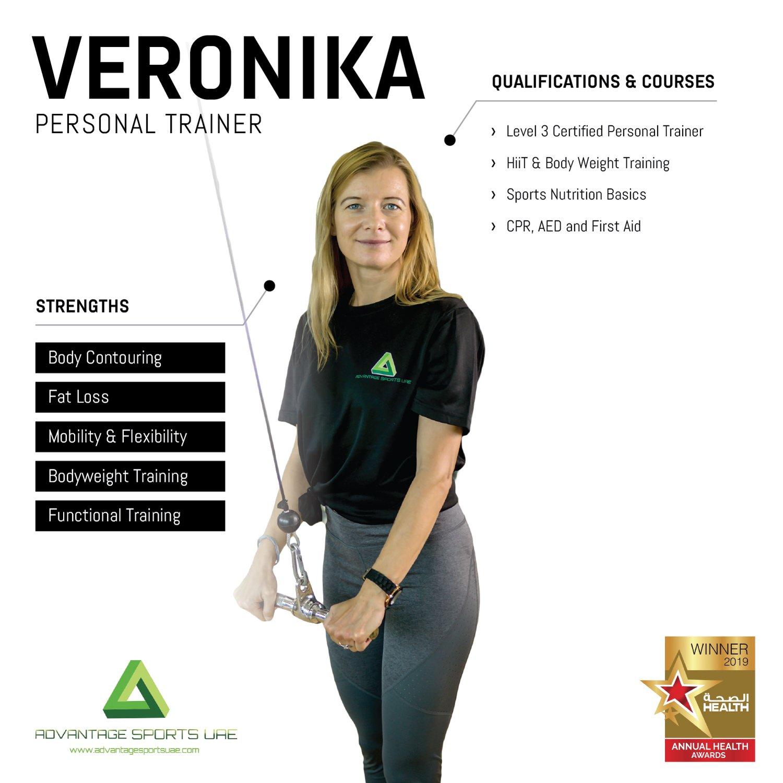 Female Fitness Coach In Abu Dhabi Veronika - Core Training Skills