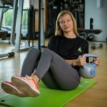Abu Dhabi Female Yoga Teacher Veronika - Kettlebell Twist Exercises