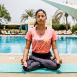 Abu Dhabi Yoga Coach Shweta - Padmasana - lotus pose