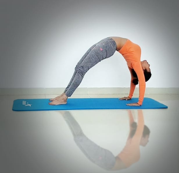 Abu Dhabi Yoga Coach Shweta - Urdhva dhanurasana - upside bow (wheel) pose