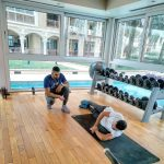 PT In Dubai Halil - Working With Clients In The Gym