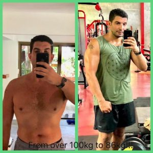 Weight Loss PT Client In Dubai - from 100kg to 86kg