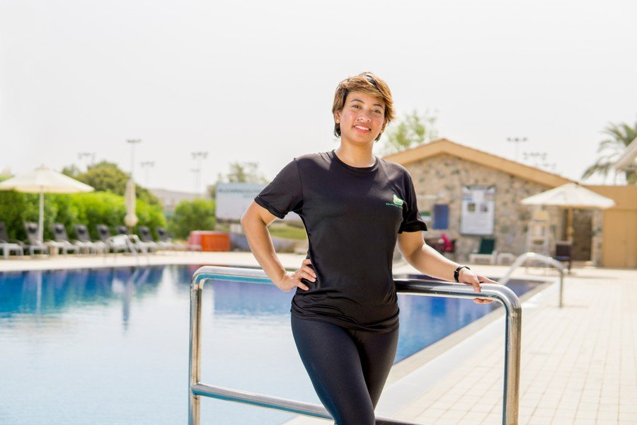 UAE private swimming lessons with Everlyn