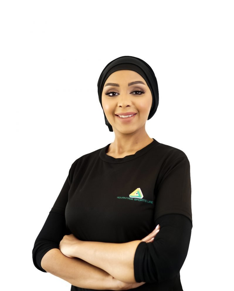 female fitness coach and diet expert in abu dhabi - amina