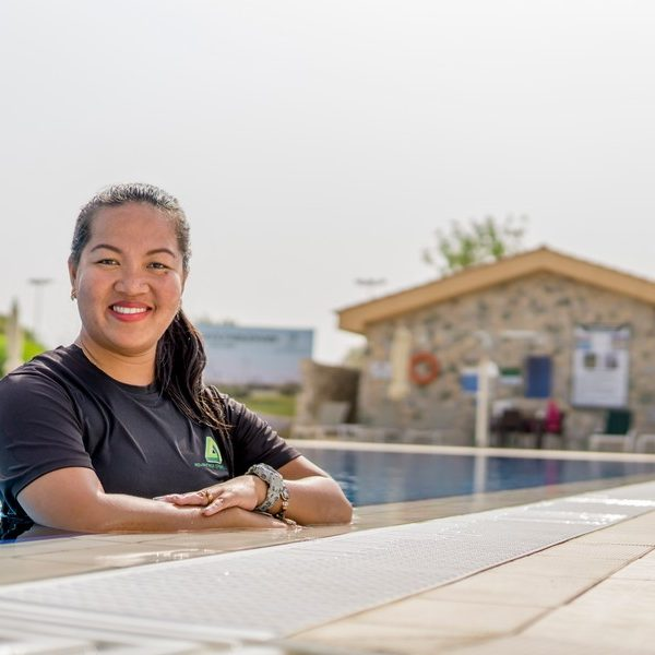 female swimming coach and trainer in Abu Dhabi - Sherry