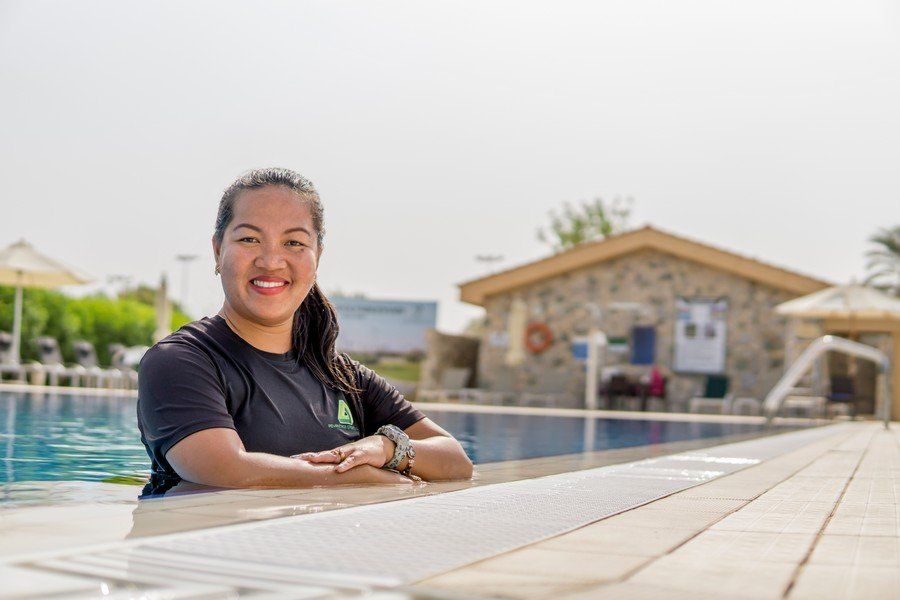 female swimming coach and trainer in Abu Dhabi - Sherry