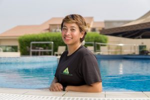 personal adult swimming lessons in Abu Dhabi with Everlyn
