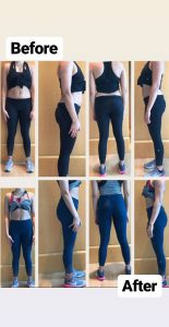 weight loss and body toning results image - dubai pt viktoria 2