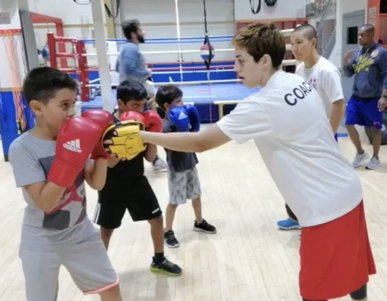 Boxing coaching for kids in Dubai with Coach Anahit